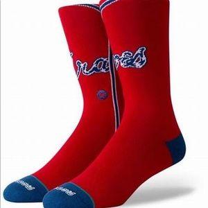 Stance Atlanta Braves Socks - NWT